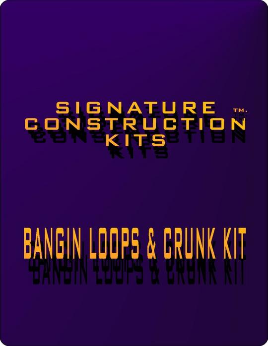 Product picture Hip Hop Loops:Signature Construction Kits Bangin Loops and Crunk Construction-Rap and Hip Hop Production Toolz